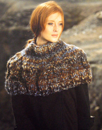 Super chunky scarf and neck warmer, Wendy 5680 Digital Download
