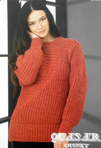 Chunky directional sweater Wendy 5731, digital version
