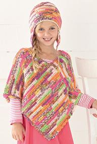 Poncho and helmet Sirdar 2413