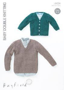 Cardigan and sweater Hayfield 4454