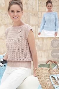 Crochet top and sweater Sirdar 7000