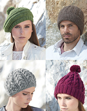 Aran scarf and hat Sirdar 7182 Digital Download