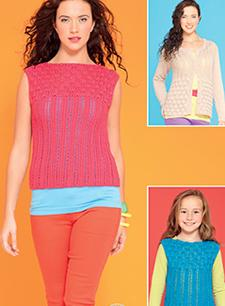 DK cardigan and top Hayfield 7288, Digital Version