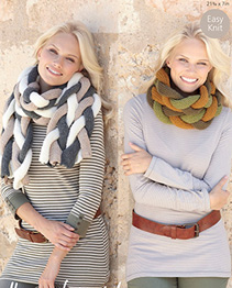 Chunky scarf and snood Hayfield 7302