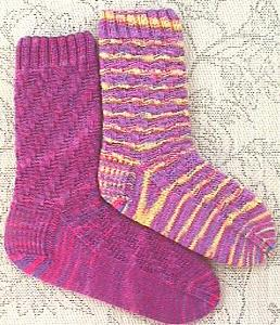 Wildhorse Farn 4 ply sock knitting pattern Springside Socks