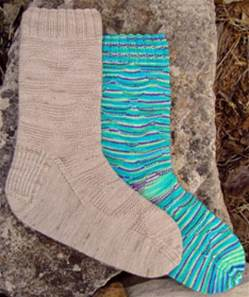 Wildhorse Farm Isosceles 4 ply textured sock knitting pattern