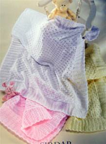3 Ply 1665 Knitting Pattern Baby Shawls in Sirdar Snuggly DK 4 Ply