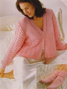 Bed jacket and socks Sirdar 5595