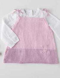Snuggly 100% Cotton DK pattern 5381 babies dress Digital Download