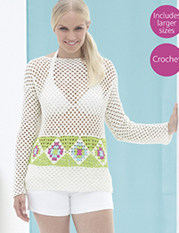 Crochet top in 4 ply Sirdar 7746 Digital Download