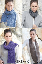 Snoods and scarves, Sirdar 7183