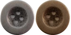 B847 brass and silver finish metal buttons 18cm