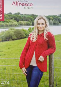 Twilleys 474 Freedon Alfresco Aran knitting book