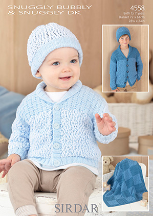 DK cardigan, hat, blanket Sirdar 4558 Digital Download