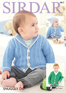 DK boys cardigans Sirdar 4817 Digital Download