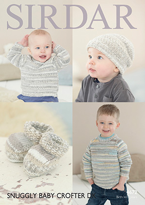 DK sweater, hat and bootees Sirdar 4672 Digital Version