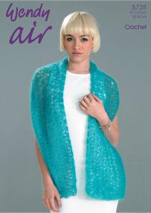 Crochet Shawl and Collar Wendy 5725