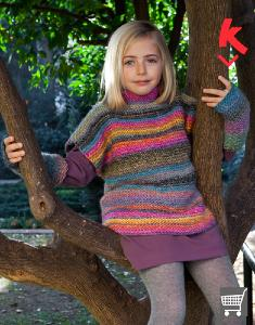 Girls jumper and wristwarmers Katia Azteca 6