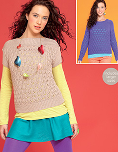 DK top and sweater Hayfield 7290, Digital Version