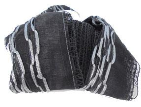 Katia Boulevard 66 scarf yarn, Black and Silver