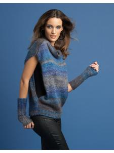 Top and wristwarmers, Katia Silk Mohair 3