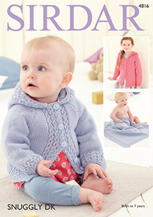 DK jacket and blanket Sirdar 4816 Digital Download