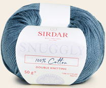 Snuggly 100% cotton DK 750 Smokey Blue