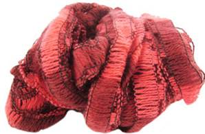 Wendy Frills scarf yarn 2651, soft red shades