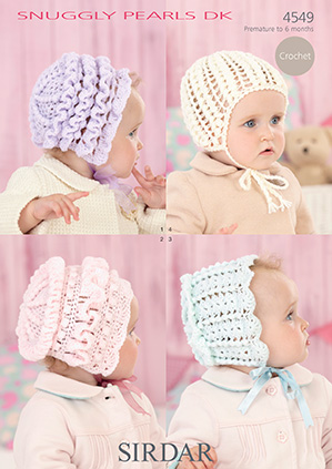 DK baby bonnets Sirdar 4549 Digital Download