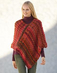 Aran womans poncho Azteca 4 digital version