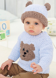 Chunky sweater and hat Sirdar 4825 Digital Download