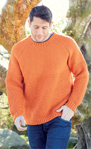 Mens DK sweater Hayfield 8286 PDF download