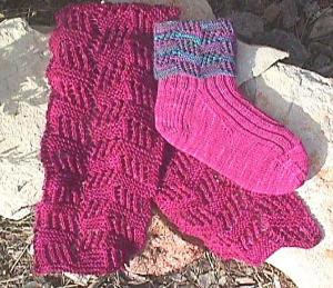 Conversation Lace Socks and Scarf digital download