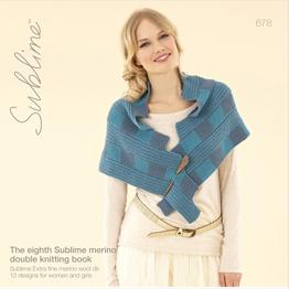 Eighth Sublime Merino DK book, Sublime 678