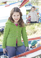 Aran hooded swetar and jacket Sirdar 2451 Digital Version