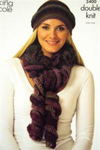 Crochet hats and scarves King Cole 3400