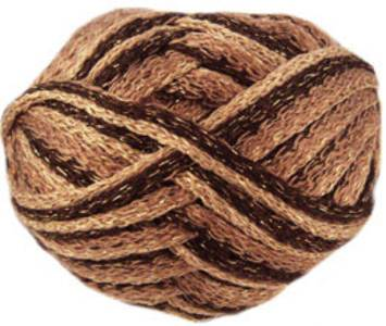 Rumba Sparkle scarf yarn, 05 golden brown