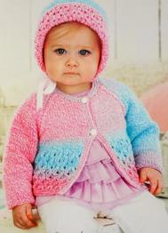 Cardigan and Bonnet Sirdar 1498