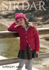 Aran cardigan and hat Sirdar 2468 Digital Version