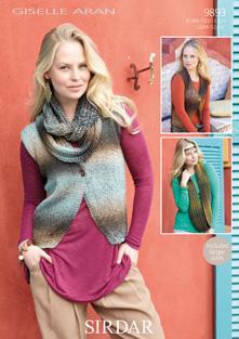 ba07a4150f6d3e Waistcoat and scarf Sirdar 9893