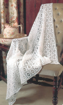 3 ply and 4 ply crochet square shawl Peter Pan 882 Digital Download