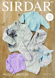 DK baby and childs sweaters Sirdar 4892 Digital Download