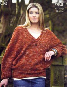 Sweater and poncho King Cole 3334
