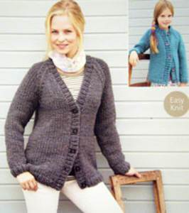 Knitting Pattern For Chunky Ladies Cardigan : Womens superchunky knitting patterns modern knitting