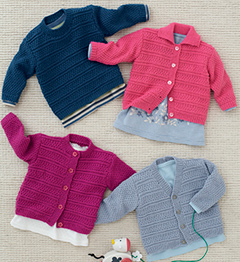 4 ply baby and childs cardigans and sweater Sirdar 4809 Digital Download