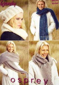 Aran scarves and hat Wendy 5630 digital version