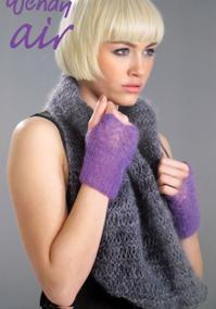 Mohair cowl, mitts and scarf Wendy 5728, digital version