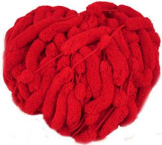 Katia Big Bang scarf yarn, 5952 bright red
