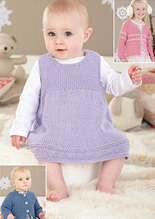 Pinafore and cardigan Sirdar 4470