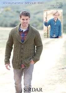 DK mens cardigan Sirdar 7123 Digital Download